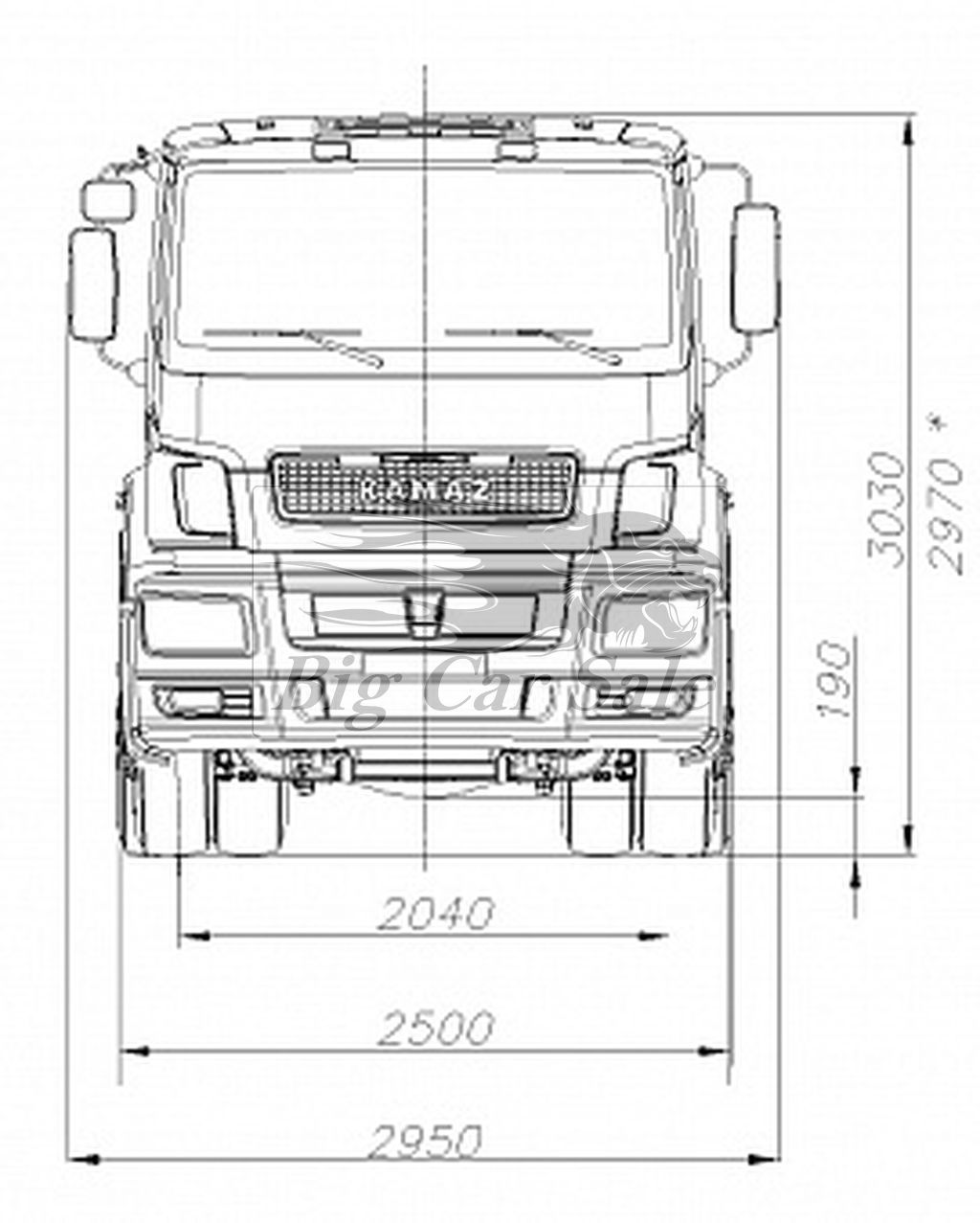 Схема скании тягача